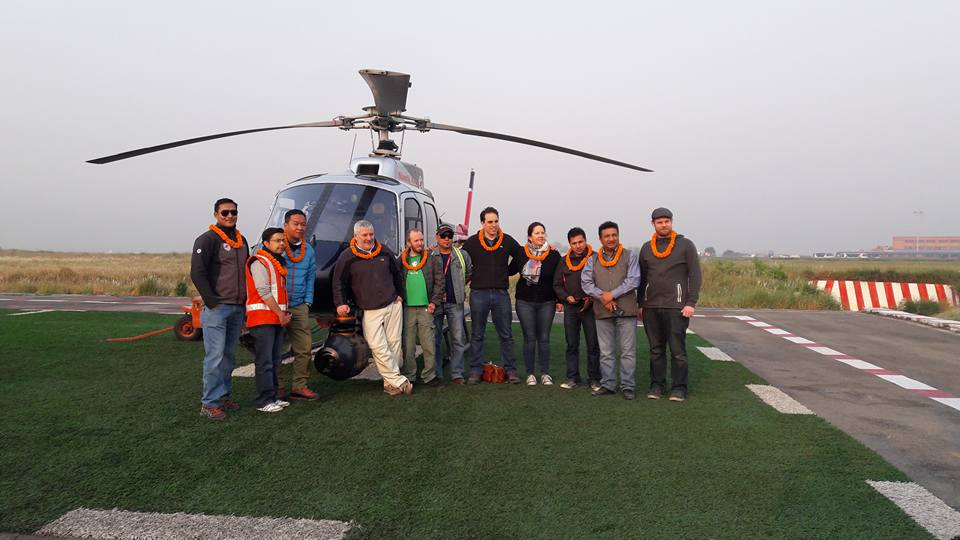 Simrik Air Helicopter company DR Strange team