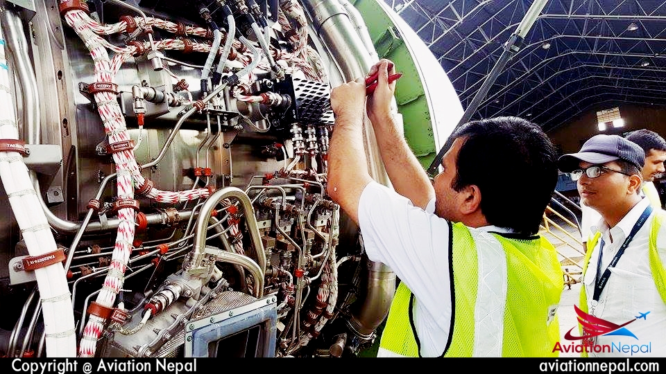 Nepal Airlines Airbus 320 at Hangar for Maintaince