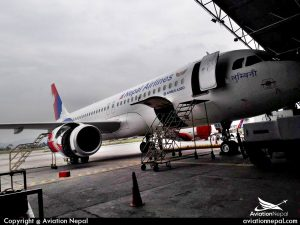 Nepal Airlines 9N-AKX at Hangar for Maintaince-aviationnepal.com