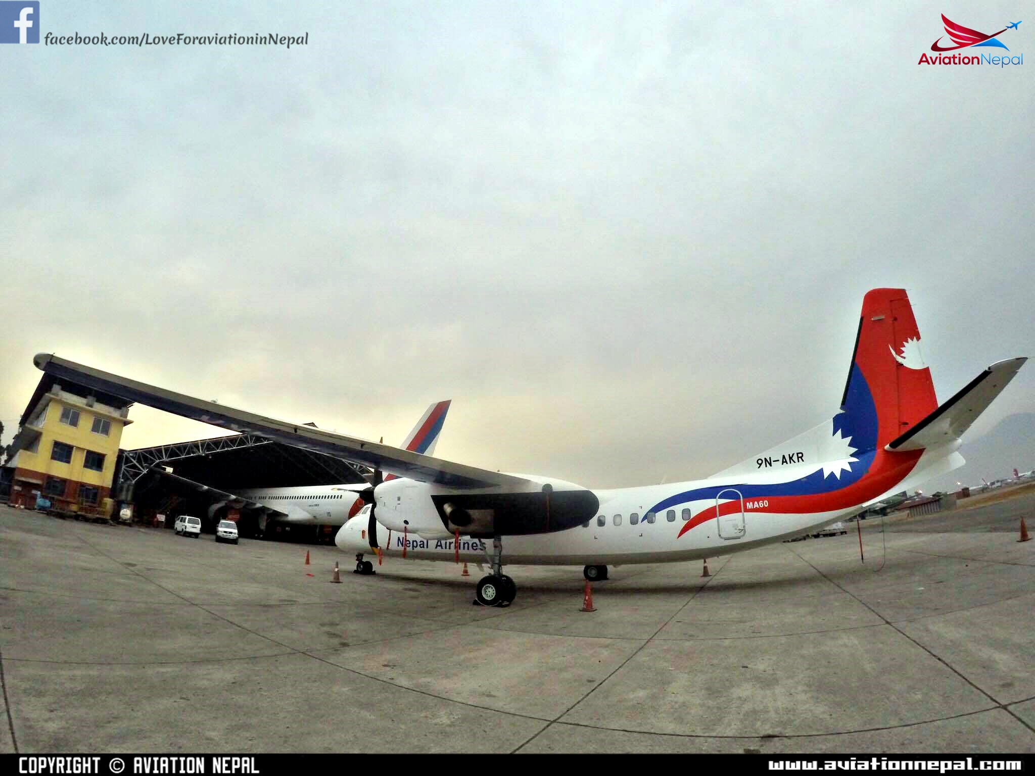 Photo: Factory Made New MA60 '9N-AKR' of Nepal Airlines at Hangar