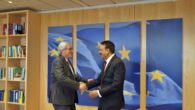 Photo: Hon. Foreign Minister with  H.E. Mr. Jean-Claude Juncker, President of European Commission- Photo Credit: MOFA