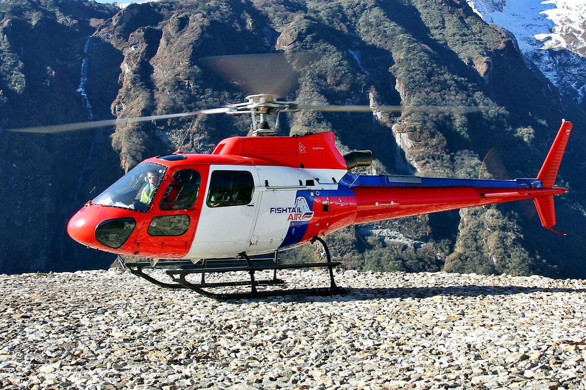 Photo: Fishtail Air AS 350 B3+ Eurocopter